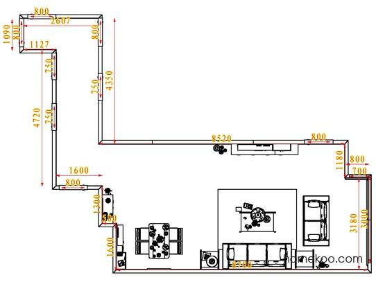 平面布置图柏俪兹系列客餐厅G1443