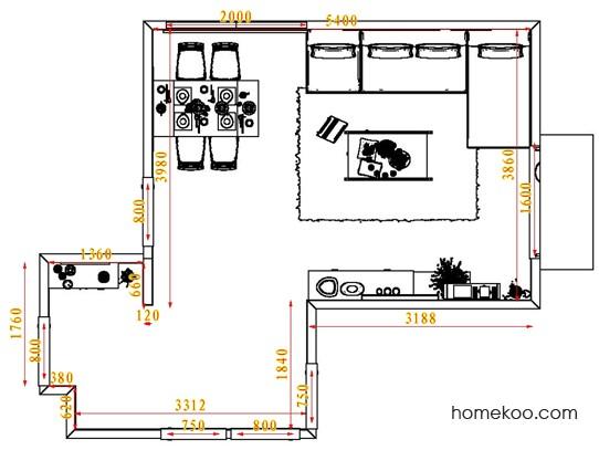 平面布置图柏俪兹系列客餐厅G1445