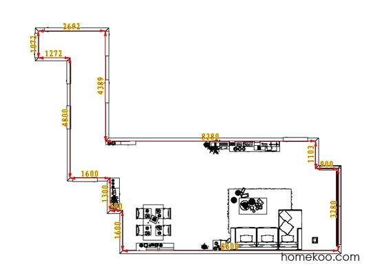 平面布置图斯玛特系列客餐厅G1446