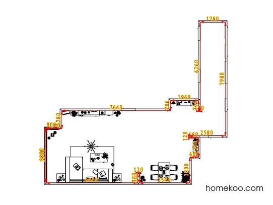 平面布置图斯玛特系列客餐厅G1448