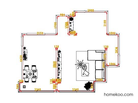 平面布置图格瑞丝系列客餐厅G1453
