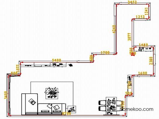 平面布置图斯玛特系列客餐厅G1456