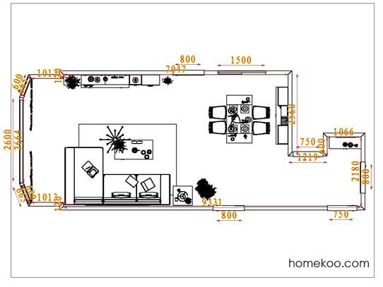 平面布置图德丽卡系列客餐厅G1464