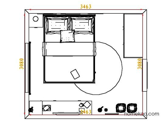 平面布置图斯玛特系列卧房A5847