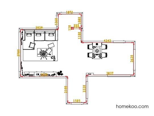 平面布置图德丽卡系列客餐厅G1571