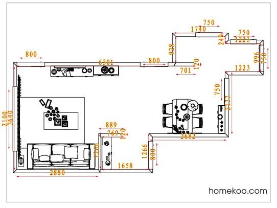 平面布置图柏俪兹系列客餐厅G1467