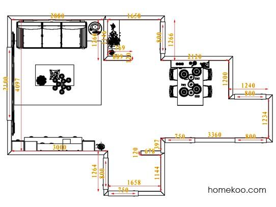 平面布置图格瑞丝系列客餐厅G1470