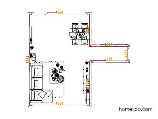 平面布置图德丽卡系列客餐厅G1481