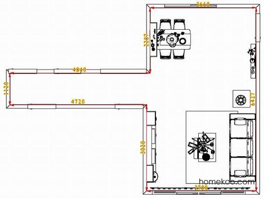 平面布置图乐维斯系列客餐厅G1495