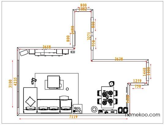 平面布置图格瑞丝系列客餐厅G1499