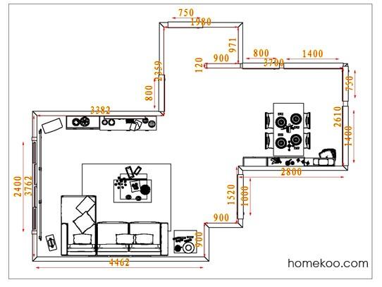 平面布置图柏俪兹系列客餐厅G1503