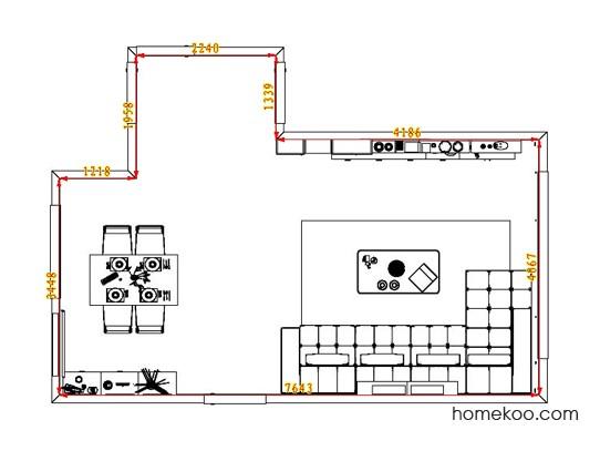 平面布置图德丽卡系列客餐厅G1514