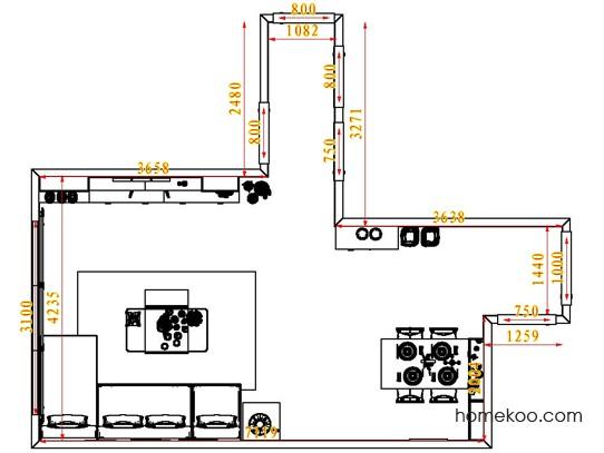 平面布置图格瑞丝系列客餐厅G1512