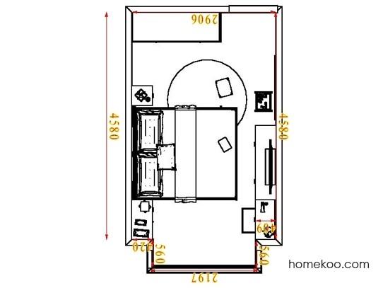 平面布置图贝斯特系列卧房A6071