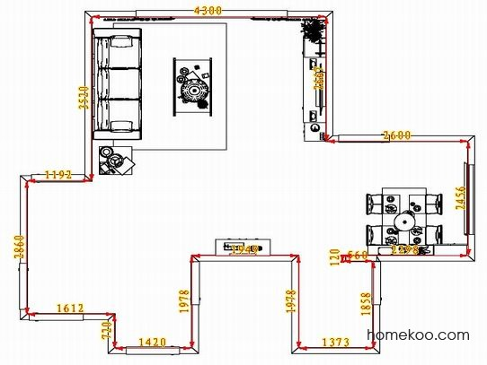 平面布置图斯玛特系列客餐厅G1523