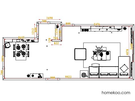 平面布置图柏俪兹系列客餐厅G1528