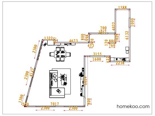 平面布置图德丽卡系列客餐厅G1531