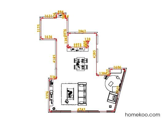 平面布置图斯玛特系列客餐厅G1537