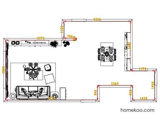 平面布置图格瑞丝系列客餐厅G1543