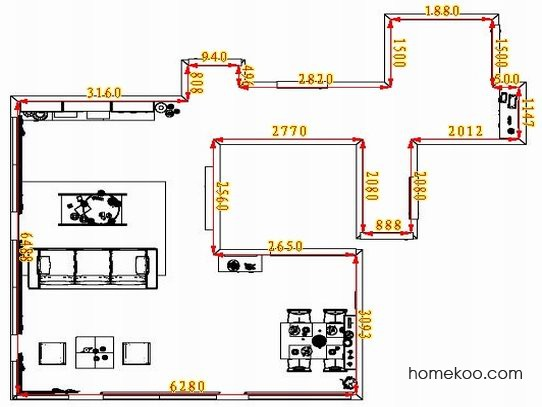 平面布置图柏俪兹系列客餐厅G1546