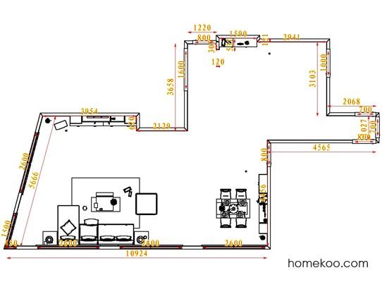 平面布置图德丽卡系列客餐厅G1553