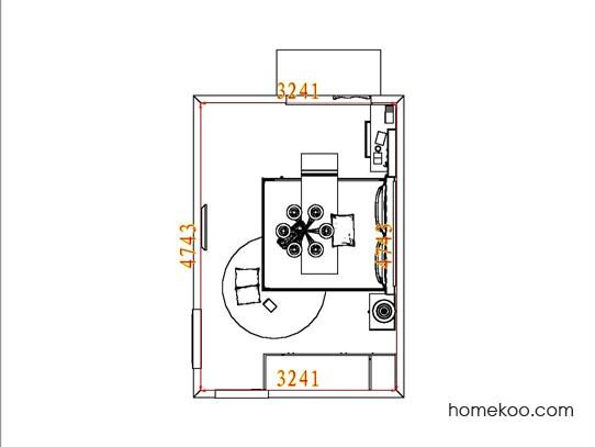 平面布置图斯玛特系列卧房A6208