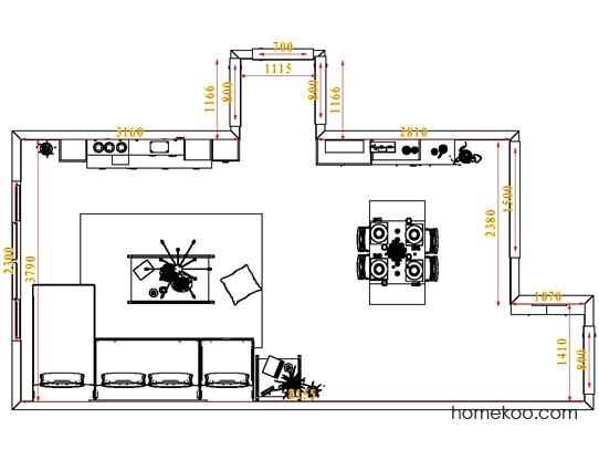 平面布置图贝斯特系列客餐厅G1580
