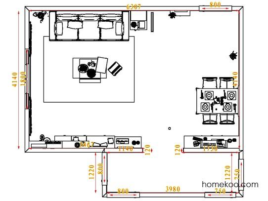 平面布置图柏俪兹系列客餐厅G1583