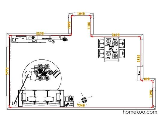 平面布置图德丽卡系列客餐厅G1586