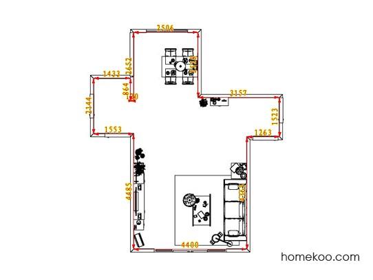 平面布置图柏俪兹系列客餐厅G1593