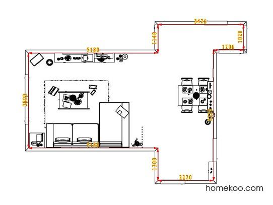 平面布置图德丽卡系列客餐厅G1625