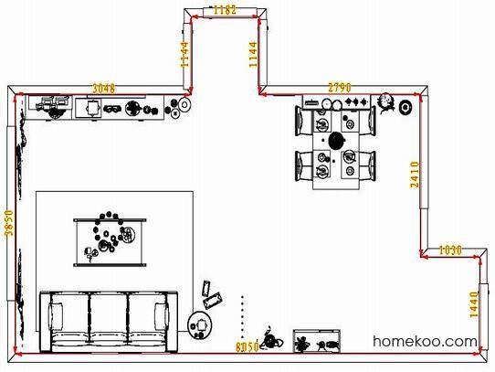 平面布置图斯玛特系列客餐厅G1594