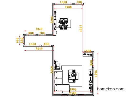 平面布置图德丽卡系列客餐厅G1600