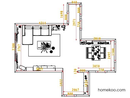平面布置图斯玛特系列客餐厅G1601