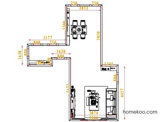 平面布置图柏俪兹系列客餐厅G1605