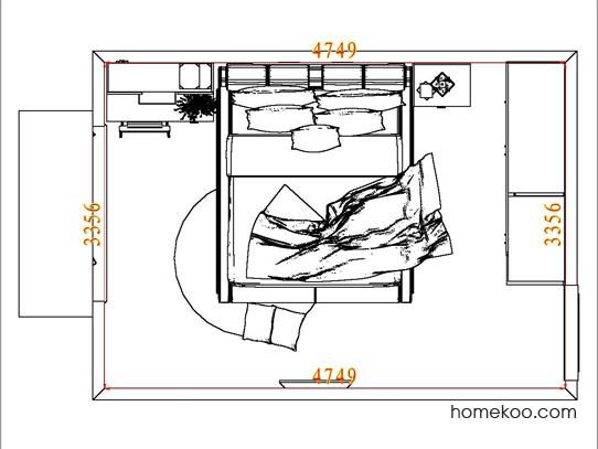 平面布置图斯玛特系列卧房A6312