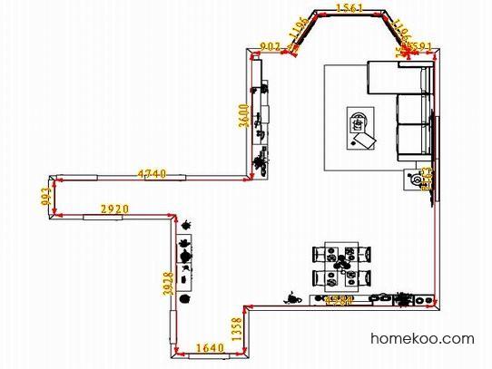 平面布置图斯玛特系列客餐厅G1607