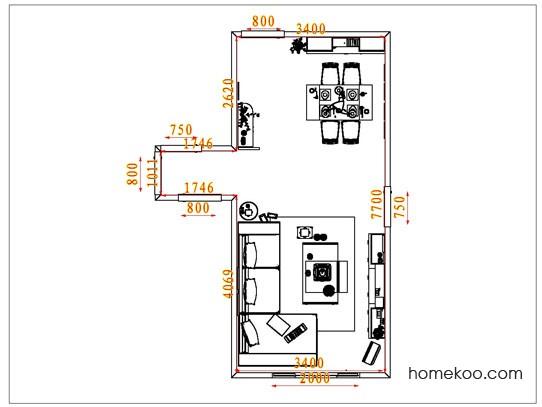 平面布置图乐维斯系列客餐厅G1608