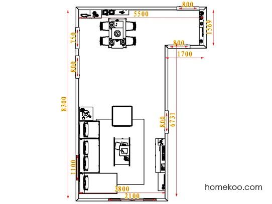 平面布置图格瑞丝系列客餐厅G1619