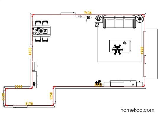 平面布置图乐维斯系列客餐厅G1623