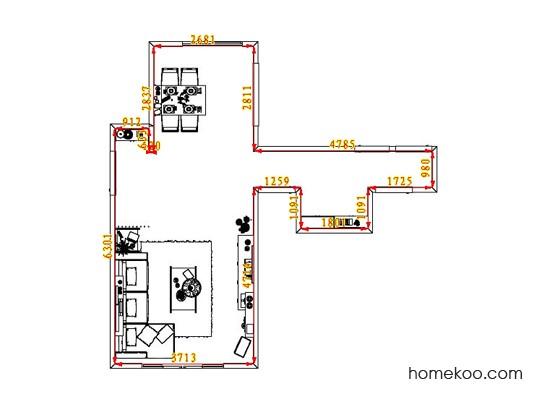 平面布置图德丽卡系列客餐厅G1626