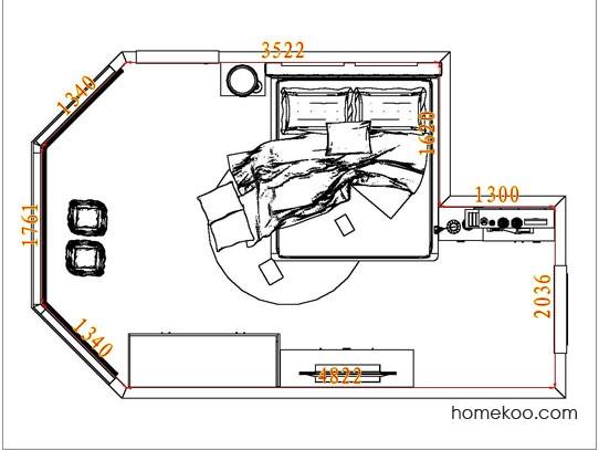 平面布置图乐维斯系列卧房A6346