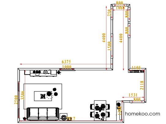 平面布置图斯玛特系列客餐厅G1636