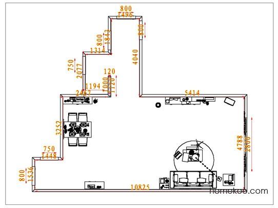 平面布置图斯玛特系列客餐厅G1647