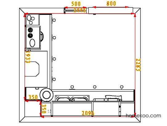 平面布置图柏俪兹系列厨房F12977