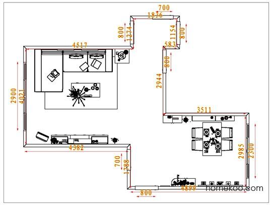 平面布置图乐维斯系列客餐厅G1648