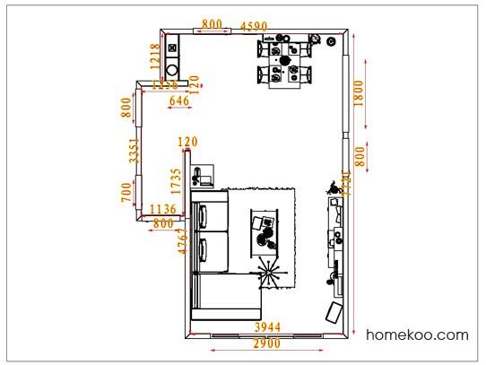 平面布置图乐维斯系列客餐厅G1649