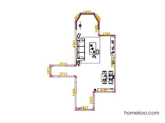 平面布置图德丽卡系列客餐厅G1658