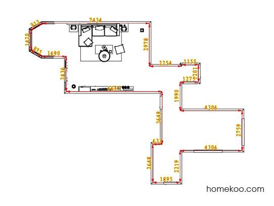 平面布置图斯玛特系列客厅D0647