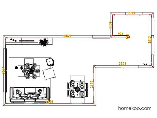 平面布置图柏俪兹系列客餐厅G1660